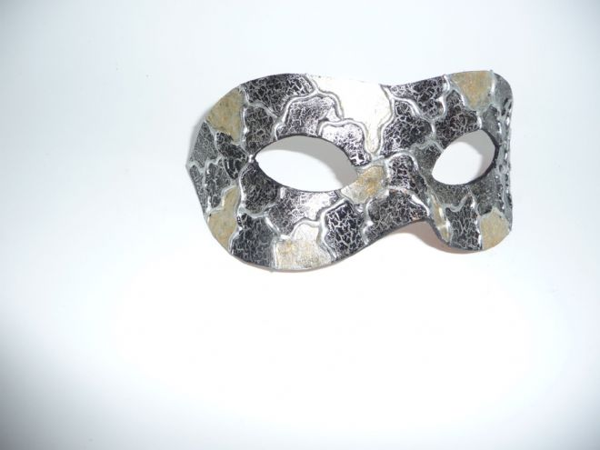 Mens Genuine Handmade Leather  Unique Gold Mask(1)